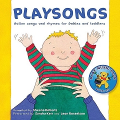 Playsongs - Actions Songs and Rhymes for Babies and Toddlers (Book and CD) Cover