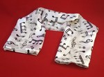 Ladies White Scarf Music Notes And Symbols Design