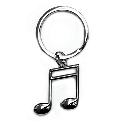 High Quality Silver Finish Semi Quaver Key Ring