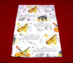 100% Cotton Musical Instruments Tea Towel