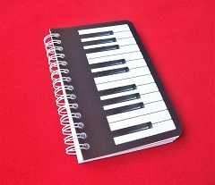 Piano Keyboard Design Memo Pad Notebook