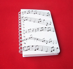 Sheet Music Notes Design Memo Pad Notebook