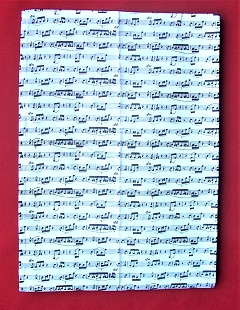 High Quality 100% Cotton Sheet Music Notes Tea Towel
