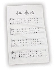 100% Cotton Abide With Me Hymn Tea Towel