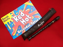 High Quality School Descant/Soprano Recorder with Red Hot Recorder Tutor Book 1