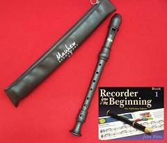 High Quality School Descant/Soprano Recorder with Beginner Tutor Book 1