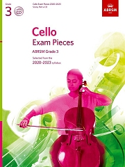 Cello Exam Pieces 2020 2023BRSM Grade 3 Score Part And CD