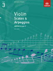 Violin Scales and Arpeggios, ABRSM Grade 3
