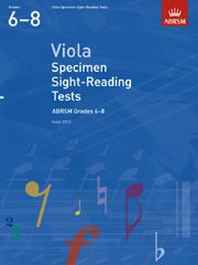 Viola Specimen Sight-Reading Tests, ABRSM Grades 6-8