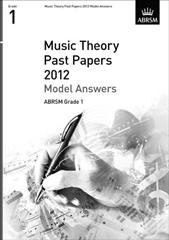 ABRSM Theory Of Music Exams 2012: Model Answers - Grade 1 Cover