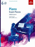Piano Exam Pieces 2017 and 2018, ABRSM Grade 6, with CD