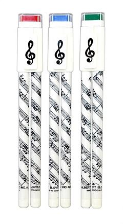 Sheet Music Design Ball Point Pen And Pencil Set Duo