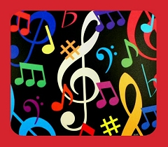 High Quality Musical Notes, Clefs And Symbols Mouse Mat Design