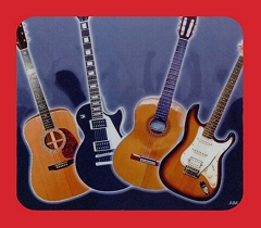 High Quality Guitar Mouse Mat Design