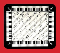 High Quality Piano Keyboard And Music Score Design Mouse Mat Cover