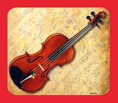 High Quality Violin Design Mouse Mat