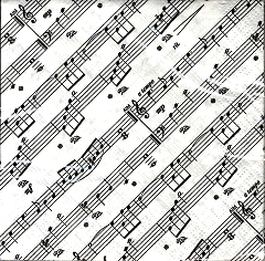 20 Pack of Sheet Music Design 25cm Paper Napkins