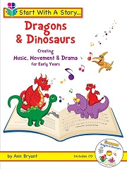 Start With A Story: Dragons And Dinosaurs (Book and CD) - By Ann Bryant Cover