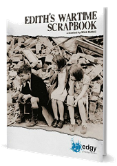 Edith's Wartime Scrapbook - By Mick Riddell Cover