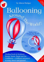 Ballooning Around The World! - Alison Hedger (Book and CD) Cover