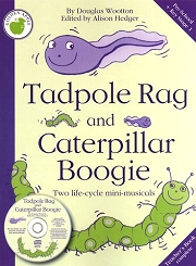 Tadpole Rag and Caterpillar Boogie (Book and CD) - Douglas Wootton Cover