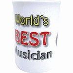 Bone China Worlds Best Musician Mug