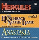 Pocket Songs Backing Tracks CD - Hercules, Hunchback and Anastacia, Hits from Cover