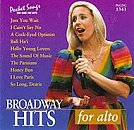 Pocket Songs Backing Tracks CD - Broadway Hits for Alto Cover