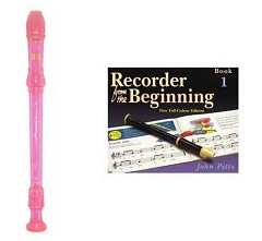 School Descant/Soprano Pink Recorder and Beginning Tutor Book 1