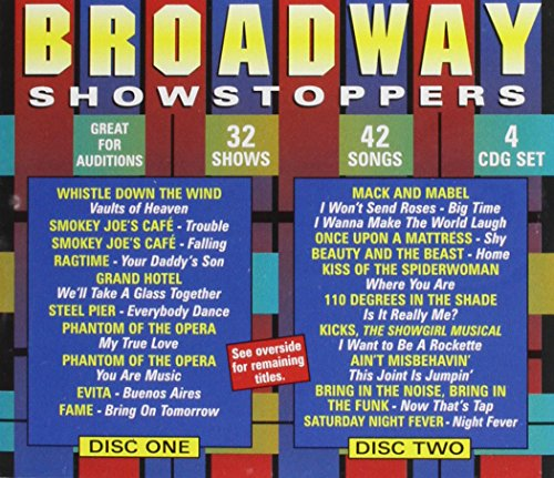 POCKET SONGS BACKING TRACKS CD BROADWAY SHOWSTOPPERS (4 CD SET