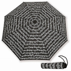 Sheet Music Notes Vienna World Mini Compact Black Umbrella