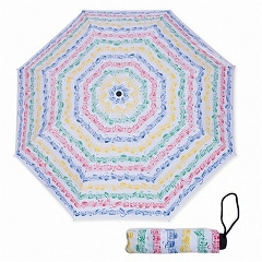 Sheet Music Coloured Notes Vienna World Mini Compact Umbrella