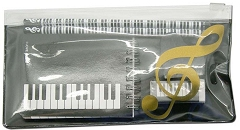 Treble Clef Piano Keyboard Design Stationery Set